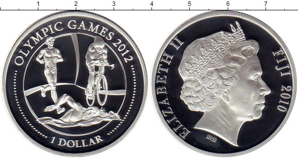 Картинка Монеты Фиджи 1 доллар Серебро 2010