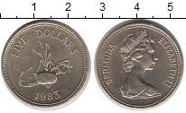 Изображение Монеты Великобритания Бермудские острова 5 долларов 1983 Латунь UNC-