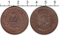 Изображение Монеты Карибы 2 цента 1965 Бронза XF