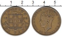 Изображение Монеты Ямайка 1 пенни 1940 Латунь XF