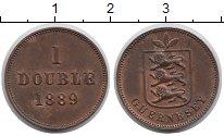 Изображение Монеты Великобритания Гернси 1 дубль 1889 Медь XF