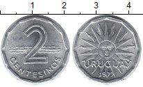 Изображение Монеты Уругвай 2 сентесимо 1977 Алюминий UNC-