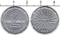 Изображение Монеты Уругвай 2 сентесимо 1977 Алюминий XF