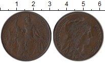 Изображение Монеты Франция 10 сантим 1907 Бронза XF-
