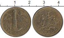Изображение Монеты Барбадос 5 центов 1996 Латунь XF