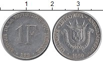Изображение Монеты Бурунди 1 франк 1980 Алюминий XF