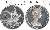 Изображение Монеты Виргинские острова 1 доллар 1974 Серебро Proof