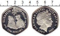 Монета Карибы 10 долларов Серебро 2007 Proof- фото