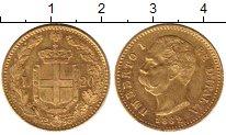 Изображение Монеты Италия 20 лир 1882 Золото XF