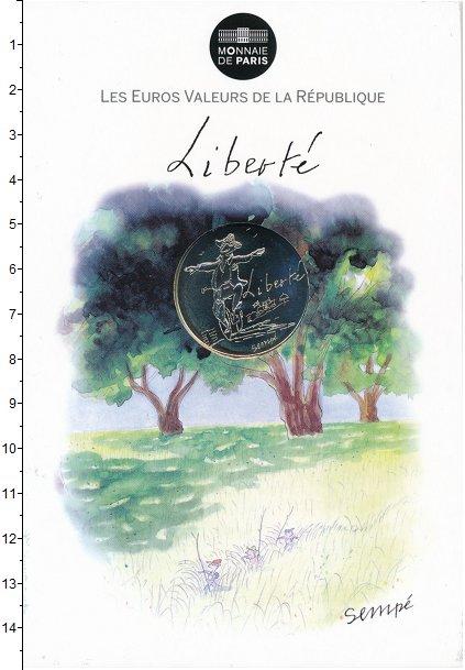 Изображение Подарочные монеты Франция 10 евро 2014 Серебро UNC Республиканские ценн