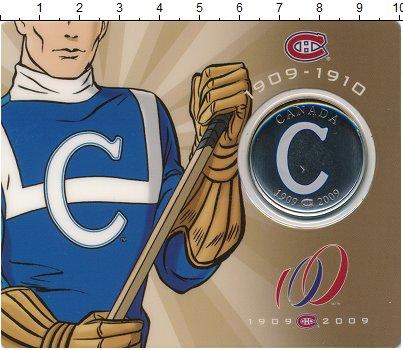 Изображение Подарочные монеты Канада 50 центов 2009 Медно-никель UNC 100 лет клубу  Монре