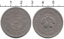 Изображение Монеты Гана 20 песев 1967 Медно-никель XF
