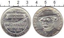Монета Италия 10 евро Серебро 2004 UNC фото