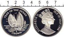 Монета Остров Мэн 1 крона Серебро 1998 Proof фото