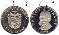 Изображение Мелочь Панама 5 сентесим 1975 Медно-никель Proof-