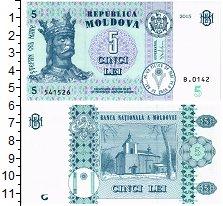Изображение Банкноты Молдавия 5 лей 2015  UNC