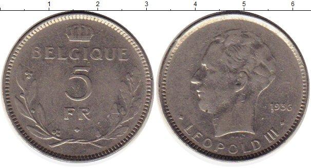 Картинка Монеты Бельгия 5 франков Медно-никель 1936