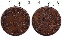 Изображение Монеты Гаити 2 сантима 1886 Бронза XF