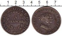 Изображение Монеты Лукка 5 франков 1805 Серебро XF-