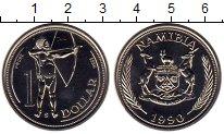 Изображение Монеты Намибия 1 доллар 1990 Медно-никель UNC-