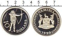 Изображение Монеты Намибия 10 долларов 1990 Серебро Proof
