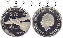 Монета Антильские острова 25 гульденов Серебро 1994 Proof фото