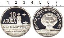 Изображение Монеты Нидерланды Аруба 10 флоринов 2006 Серебро Proof