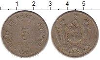 Изображение Монеты Великобритания Борнео 5 центов 1921 Медно-никель VF