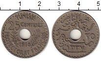 Изображение Монеты Тунис 25 сантим 1918 Медно-никель XF