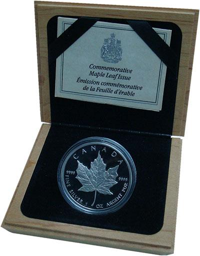 Изображение Подарочные монеты Канада 5 долларов 1989 Серебро Proof Кленовый лист. Сереб