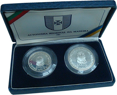 Изображение Подарочные монеты Мадейра Региональная автономия 1981 Серебро Proof В набор входят две м