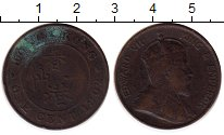 Изображение Монеты Гонконг 1 цент 1902 Бронза VF