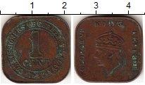 Изображение Монеты Малайя 1 цент 1941 Бронза VF