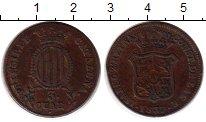 Изображение Монеты Испания Каталония 3 кварты 1837 Медь XF-