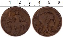 Изображение Монеты Франция 10 сантим 1900 Бронза VF