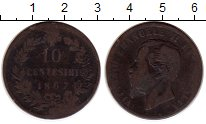 Изображение Монеты Италия 10 сентесим 1867 Медь VF