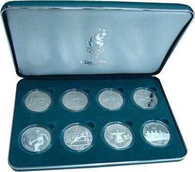 Изображение Подарочные монеты США Олимпийские игры 1996 1996 Серебро Proof- Подарочный набор пос
