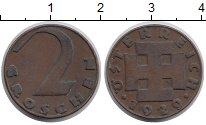 Изображение Монеты Австрия 2 гроша 1929 Бронза XF