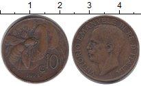 Изображение Монеты Италия 10 сентесим 1923 Бронза XF