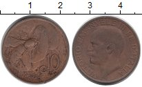 Изображение Монеты Италия 10 сентесим 1924 Бронза XF