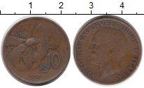 Изображение Монеты Италия 10 сентесим 1921 Бронза XF