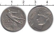 Изображение Монеты Италия 20 сентесим 1920 Медно-никель XF