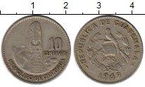 Изображение Монеты Гватемала 10 сентаво 1969 Медно-никель XF