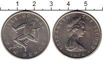 Изображение Монеты Великобритания Остров Мэн 10 пенсов 1976 Медно-никель UNC-