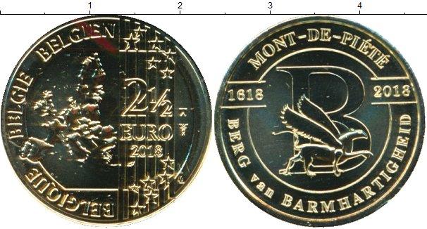 Картинка Мелочь Бельгия 2 1/2 евро Латунь 2018