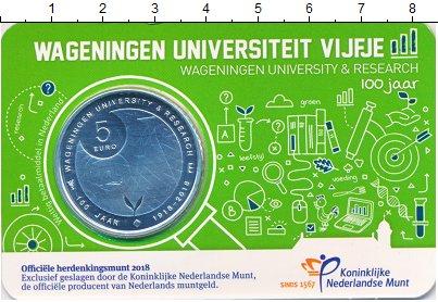 Изображение Мелочь Нидерланды 5 евро 2018 Посеребрение Proof