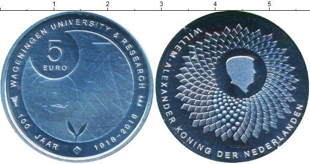 Картинка Мелочь Нидерланды 5 евро Посеребрение 2018