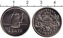 Изображение Монеты Латвия 1 лат 2011 Медно-никель XF