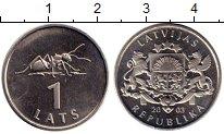 Изображение Монеты Латвия 1 лат 2003 Медно-никель XF
