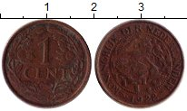 Изображение Монеты Нидерланды 1 цент 1922 Бронза XF-